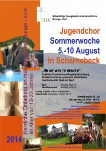Jugendchor SOWO 2014 Einladung A4